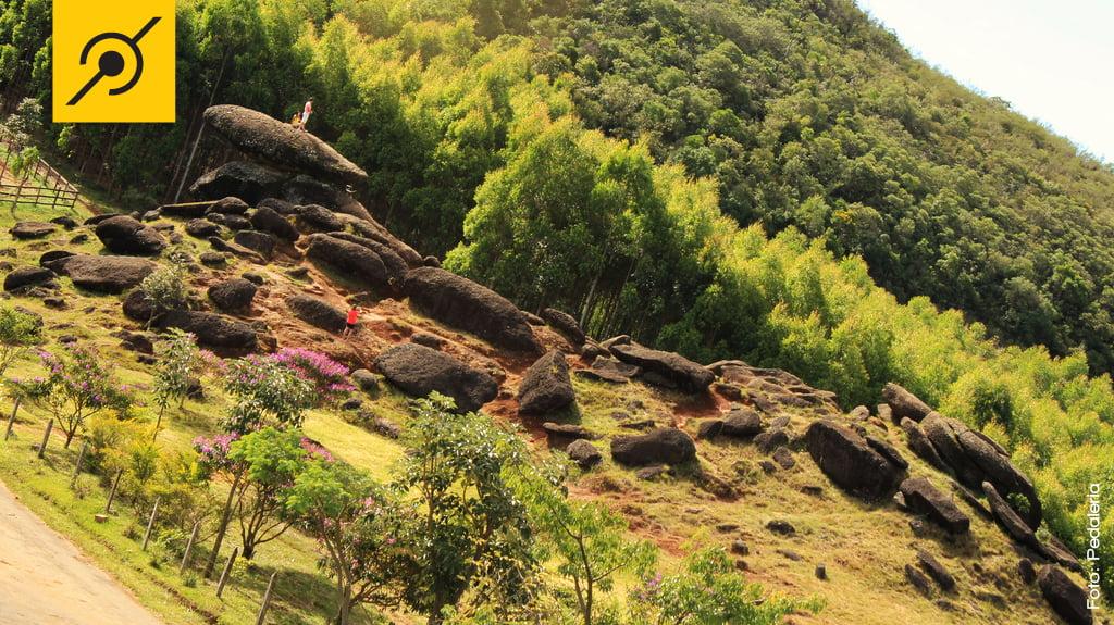 Campeonato Brasileiro de Biketrial - Vista geral das pedras que formam a pista