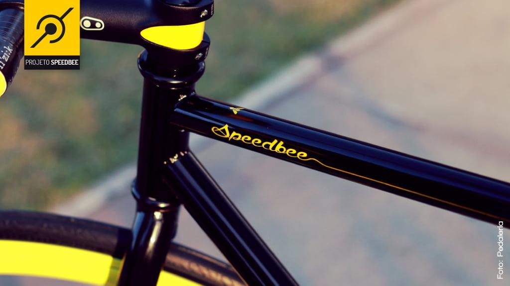Pintura especial da bike fixa Speedbee