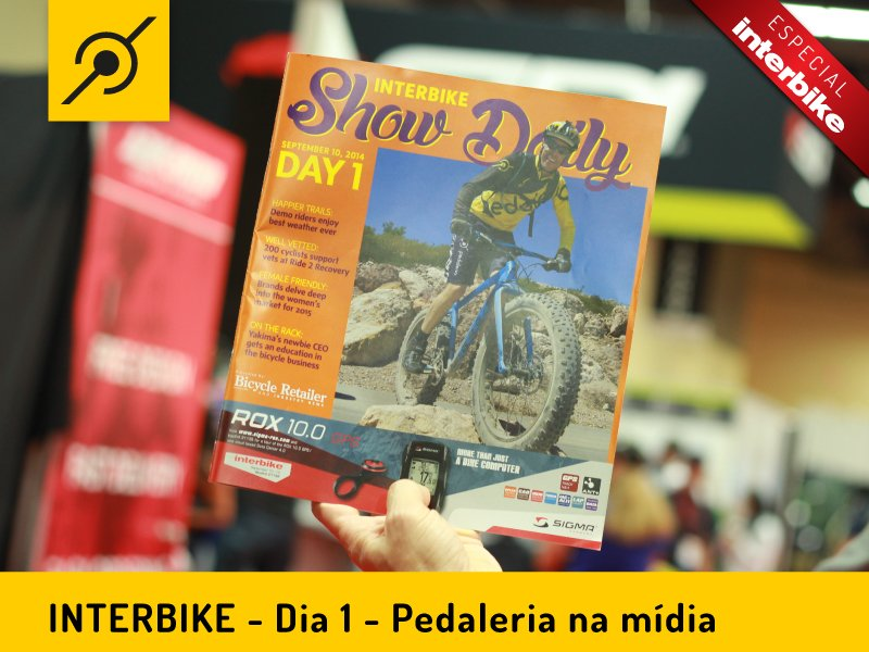 Capa da revista oficial da Interbike 2014 com Edu Capivara no Outdoor Demo