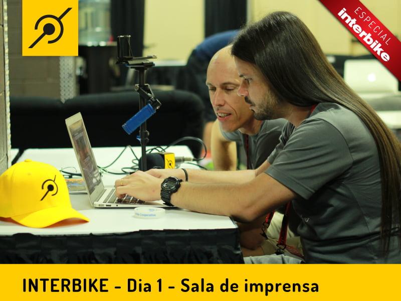 Pedaleria na sala de imprensa da Interbike 2014