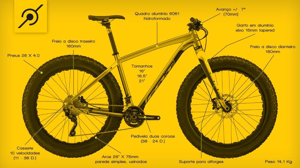 Fat bike em detalhes