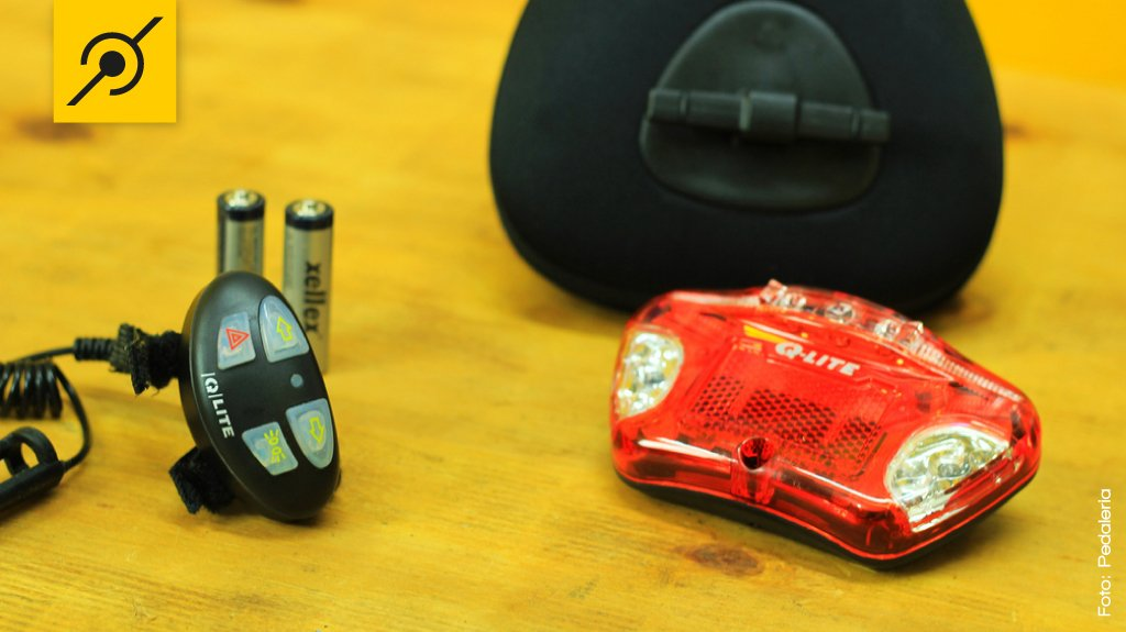 Kit de lanterna para bicicleta e bolsa de selim