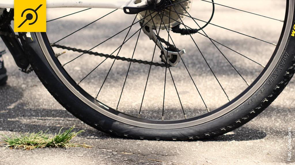 Calibragem pneu de bicicleta
