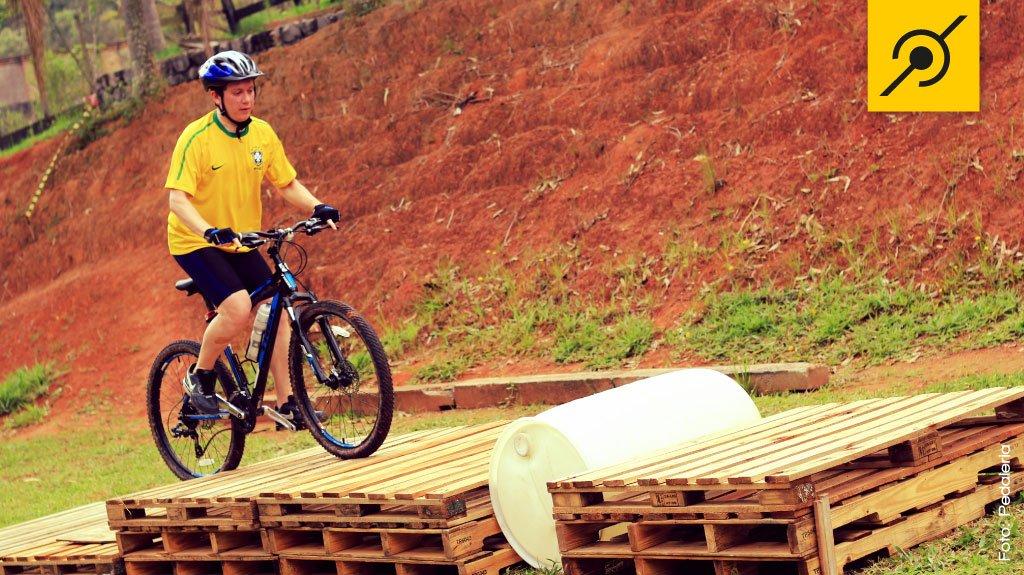 Obstáculos especiais de Biketrial para MTB