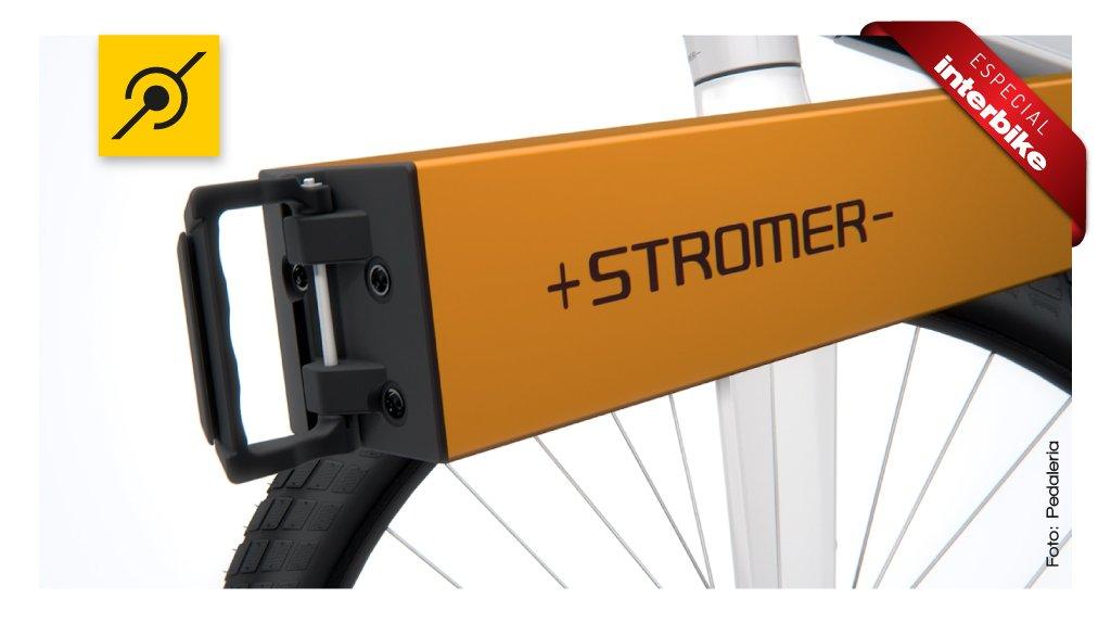 Bicicleta eletrica Stromer na Interbike 2014